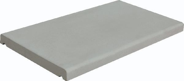 Couvertine LISSE COULE plat 49x28cm Ep.3cm gris