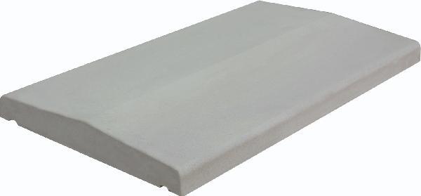 Couvertine LISSE COULE 2 pentes 49x28cm Ep.3cm gris