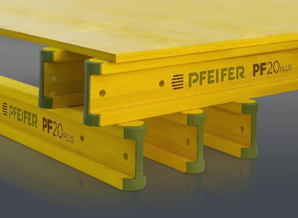 Poutre de coffrage en I PF20PLUS avec embout PVC 3,30m
