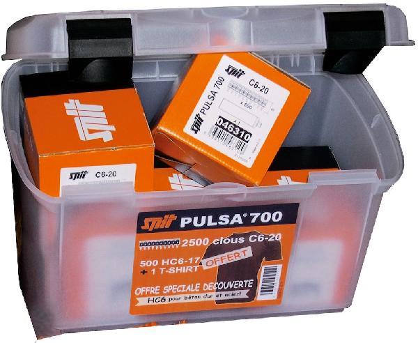 Tampons C6/HC6 cloueur gaz Pulsa 700 coffret promo 3000