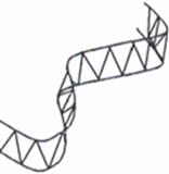Ecarteur de nappes sinusoidal H.50mm 2m