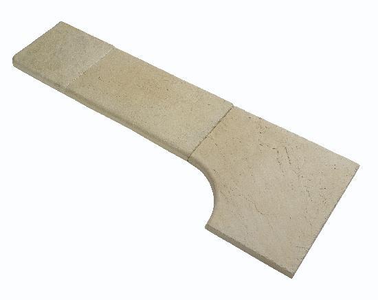 Angle rentrant CALCARA/ARDELIA 52x52cm Ep.3,5cm ivoire
