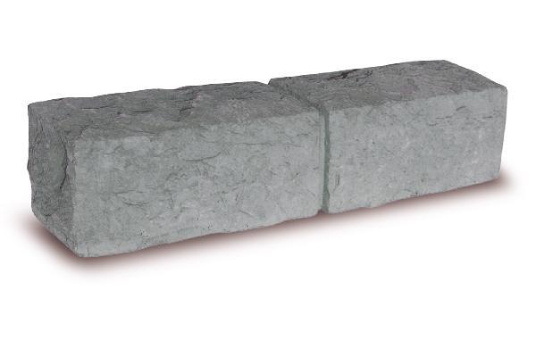 BORDURE INSTONE CALCARA STRUCTUREE 8,5X50CM H.12CM GRIS