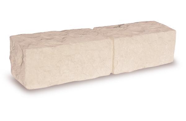 BORDURE INSTONE CALCARA STRUCTUREE 8,5X50CM H.12CM ROSERAIE