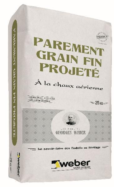Enduit PAREMENT GRAIN FIN PROJETE pierre claire - 015 sac 25Kg