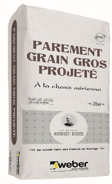 Enduit PAREMENT GRAIN GROS PROJETE pierre claire - 015 sac 25Kg