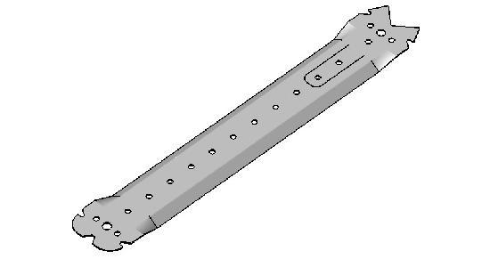 Suspente avec languette rabattable double tête D30 300mm boite 50