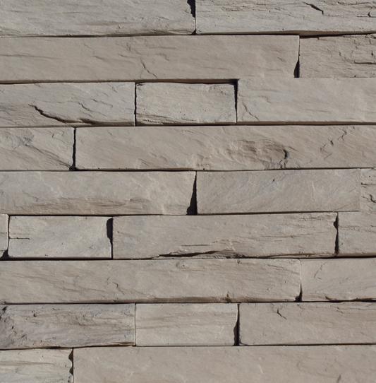 Plaquette parement MUROK STRATO M83 gris terre formats irréguliers