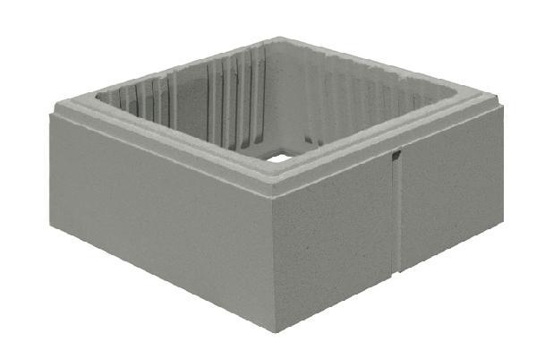 Elément pilier béton LISSE gris 38x38x16,7cm