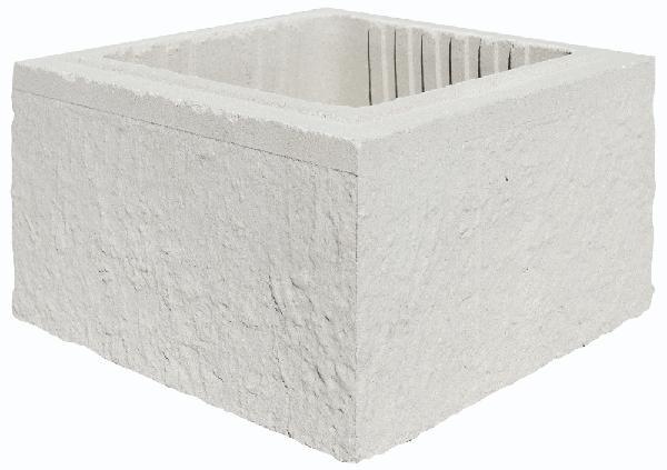 Elément pilier béton REFERENCE blanc 29x29x16,7cm