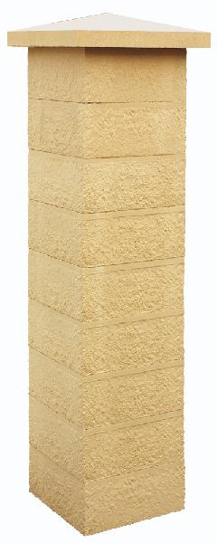 Elément pilier béton REFERENCE ton pierre 39x39x16,7cm