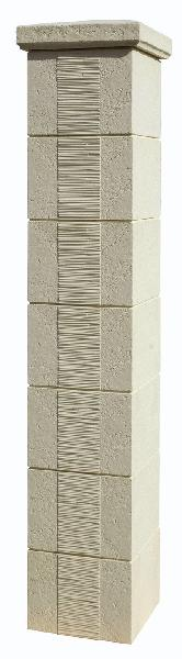 Pilier béton CAMARGUE crème 35x35x186cm