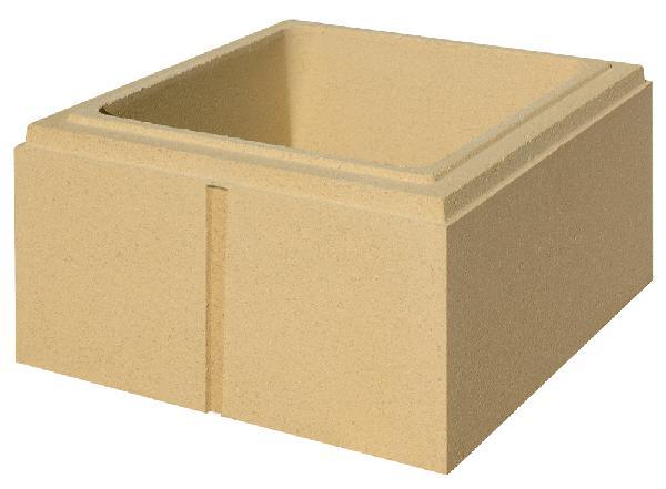 Elément pilier béton LISSE ton pierre 32x32x16,7cm