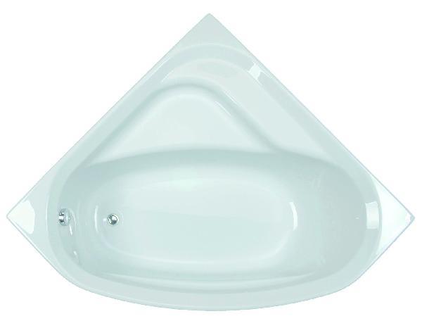 Baignoire acrylique angle FORIA Blanc 135x135cm