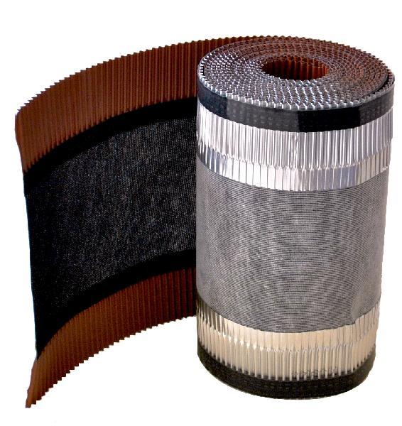 Closoir de faîtage souple ventilé INDI AL310 rouge