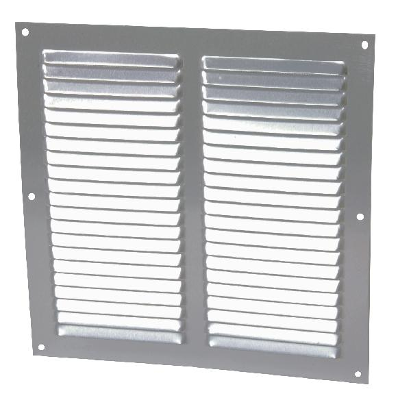 GRILLE PERSIENNE ALU ANODISE GRIS 25X25 1LM2525G