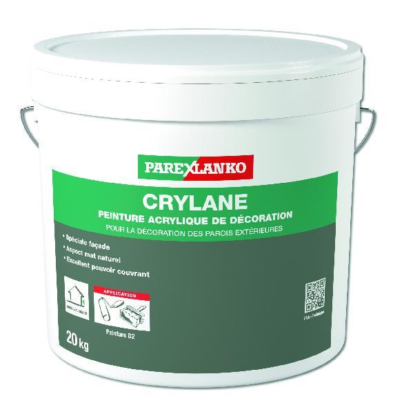 Peinture de décoration façade CRYLANE mat acrylique sable clair 20kg