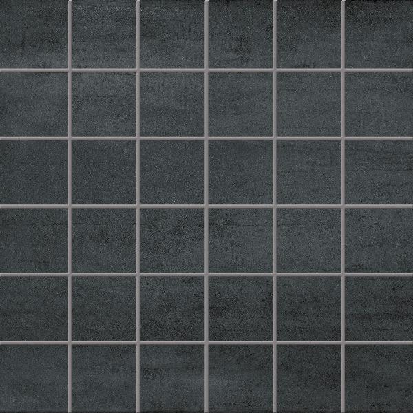 Faïence mosaïque SILK noir 25x40cm