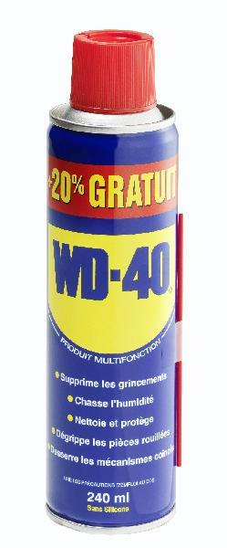 Lubrifiant WD40 + 20% gratuits 200ml