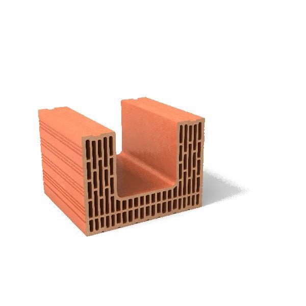 Brique de mur linteau rectifié MONOMUR 30 30x25x40cm