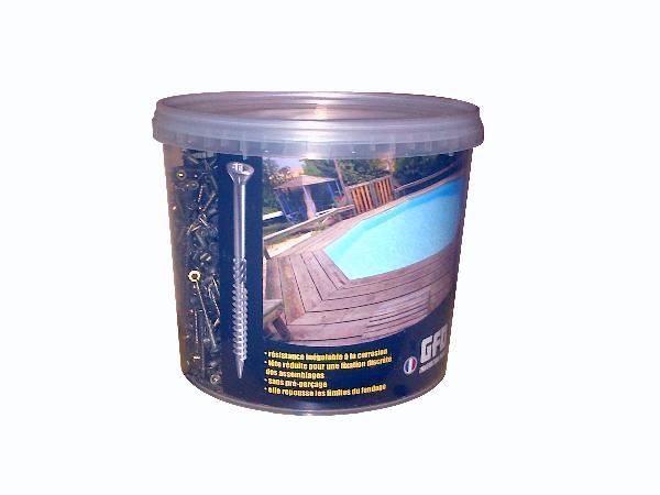 Vis terrasse tête réduite VBA 3 torx inox A2 Ø5x50mm seau 1000