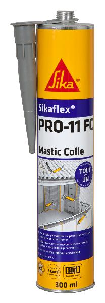 Mastic colle SIKAFLEX PRO 11FC PU gris cartouche 300ml