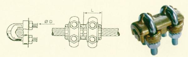 Raccord étrier pour cablette cuivre 10-70mm²