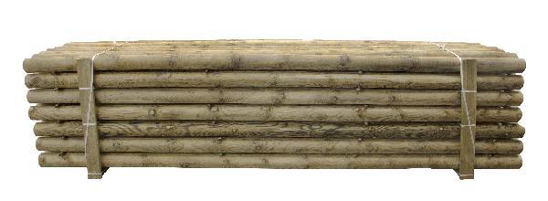 Rondin pin traité CL4 vert 2 chanfreins Ø80 3,00m