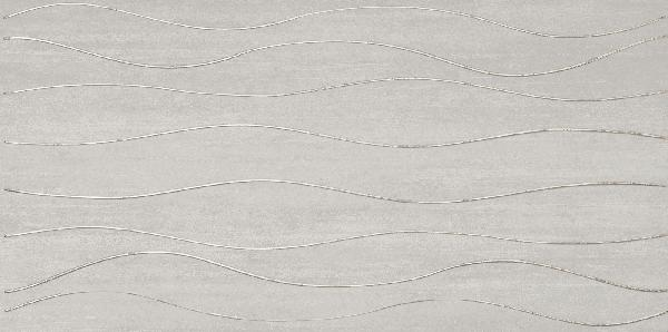 Faïence décor SILK wave grey 30x60,4cm
