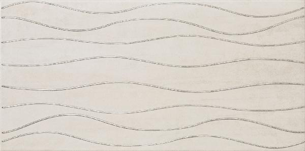 Faïence décor SILK wave almond 30x60,4cm