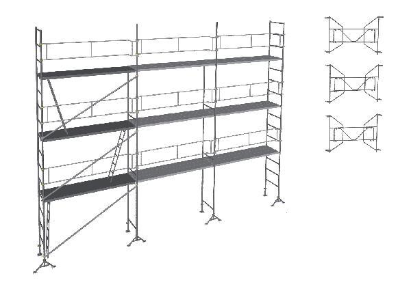 Echafaudage MACON M49 9m planchers seuls