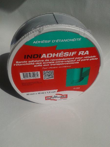 Adhésif étanchéité de raccordement INDIADHESIF 50mmx10m gris