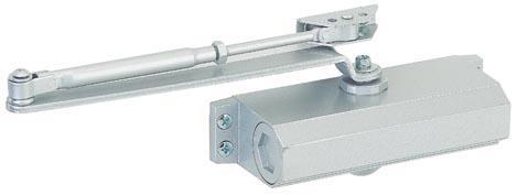 Ferme-porte hydraulique argent Eco force-4 pour porte de 80kg