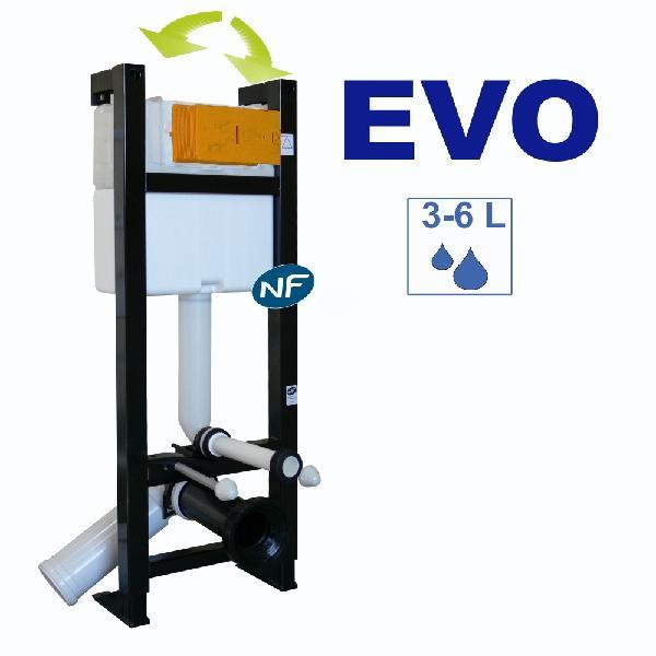 Pack bâti-support avec plaque commande sans cuvette EVO NF