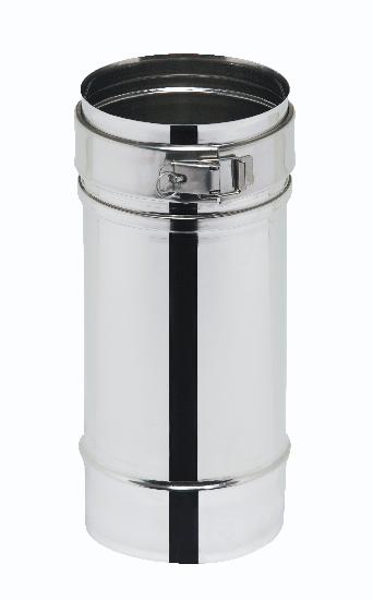 ELEMENT DROIT D180 REGLABLE 25 A 40CM INOX INOX
