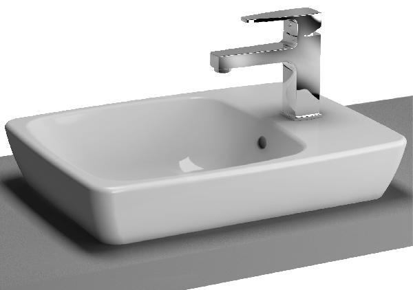 Vasque à poser METROPOLE 49,5x37,5cm céramique blanc rectangulaire