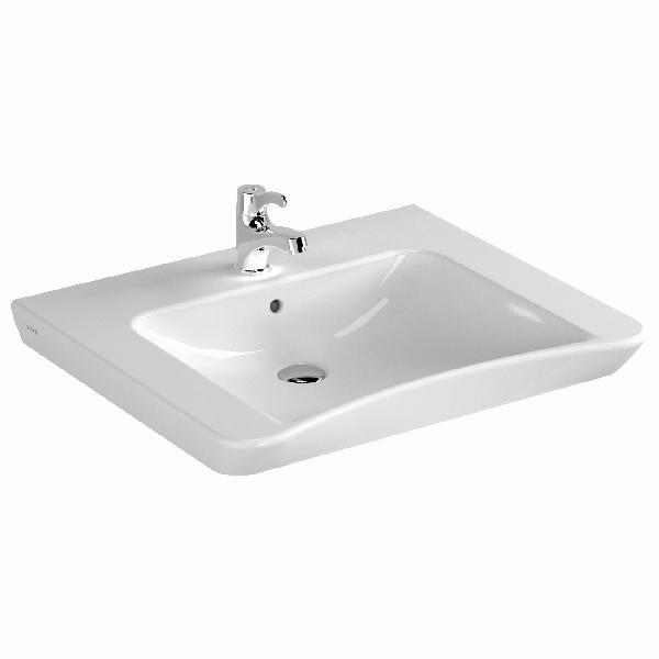 Lavabo S20 avec trou de trop plein PMR Blanc NF 65 x56cm