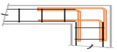 Equerre de liaison 60x60 Ø10mm