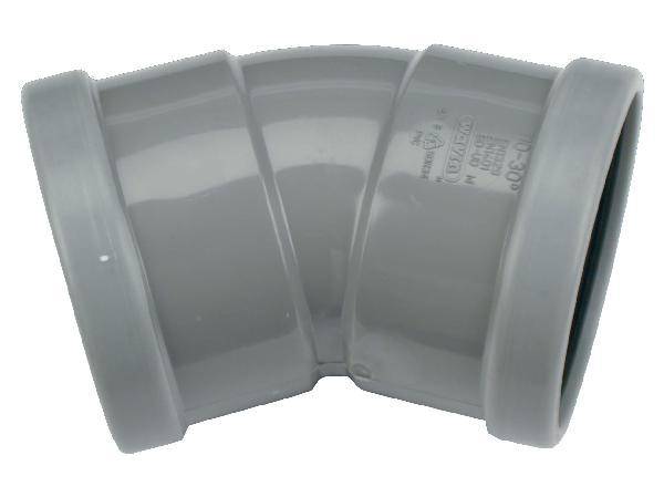 Coude PVC assainissement CR4 Ø160 femelle-femelle 30°