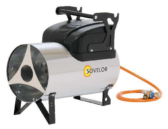 Chauffage air pulsé portable gaz propane à allumage manuel