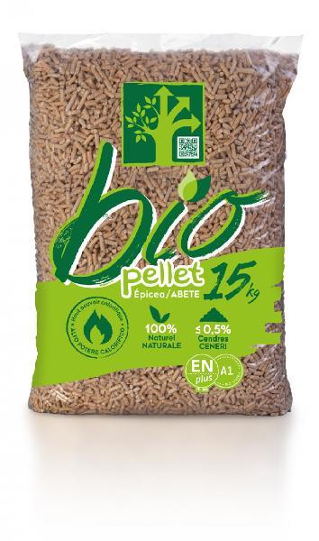 Granulés bois BIO PELLET 100% épicéa EN plus A1 sac 15kg