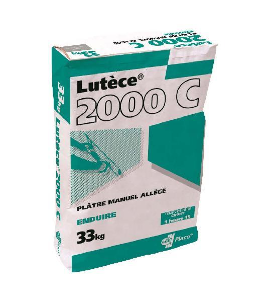 Plâtre allégé manuel LUTECE 2000 C pour enduisage sac 33kg