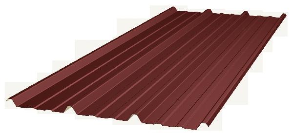 Bac acier toiture TRAPEZA 3.333.39T 75/100 5,00m 8012 BORDEAU