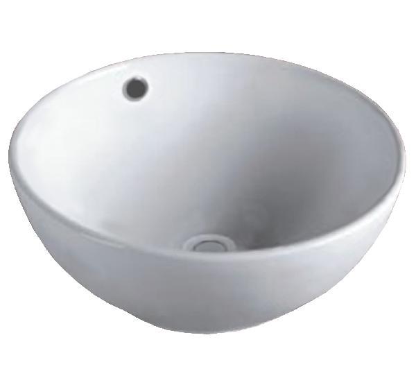 Vasque salle de bain RITA à poser 38x16cm céramique blanc rond