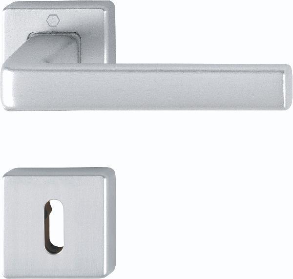 Poignée de porte DUBLIN F 94-1 chrome satiné clé L
