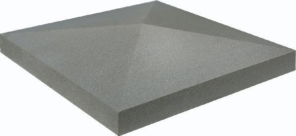 Chapeau pilier pointe diamant ECO 40x40x4cm gris