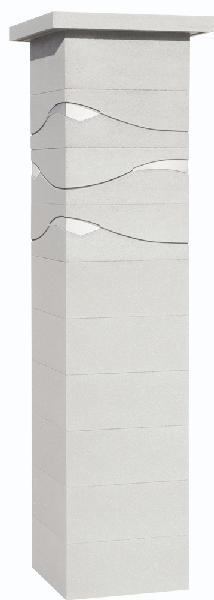 Kit 2 piliers béton ONDEA blanc 39x39x172cm
