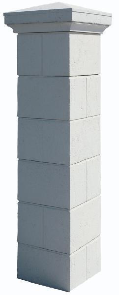 Kit 2 piliers béton AMBOISE blanc 40x40x190cm