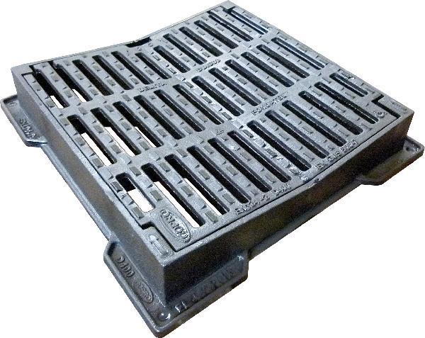 Grille fonte carrée concave PMR DELITA CO 50 D400 520x520-400x400