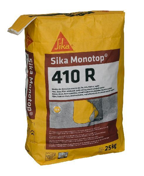 Mortier réparation SIKA MONOTOP 410 R R4 fibré sac 25kg